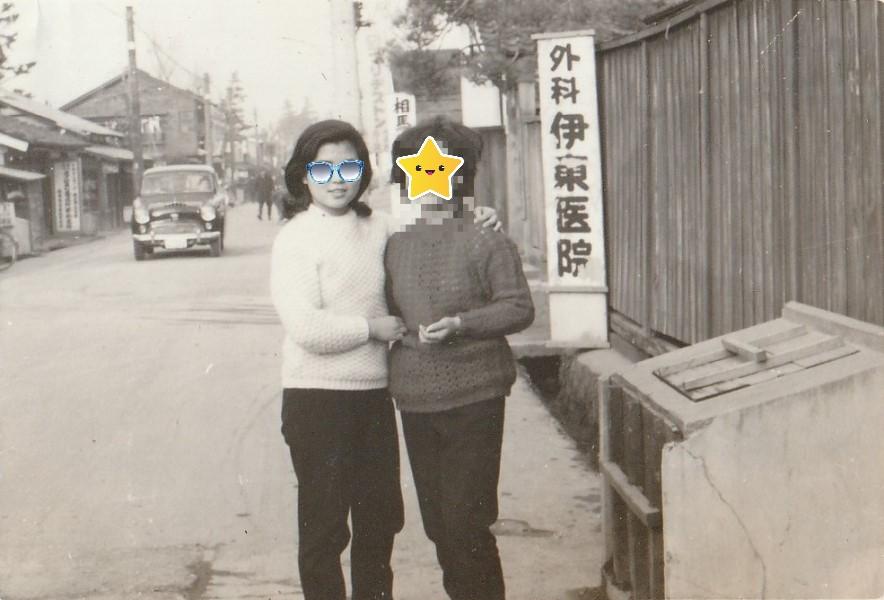 昭和レトロ「モノクロポートレート写真」