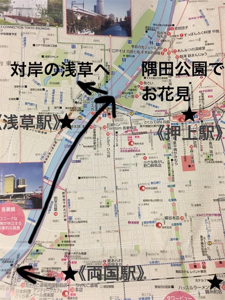 隅田川テラスを歩くお花見コース