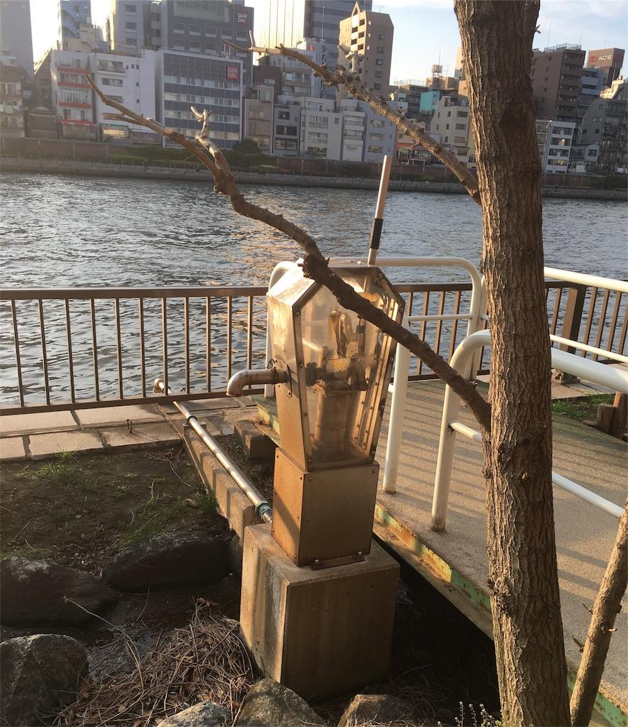 隅田川テラス 手押しポンプ