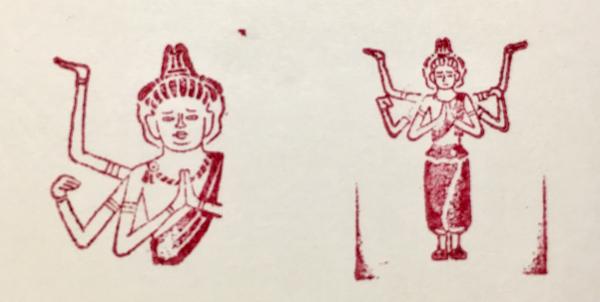 仏像はんこ(阿修羅像)