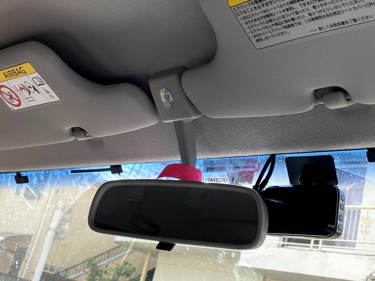 ランクル70 ドライブレコーダーの取り付け。フロントカメラの取り付け。