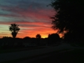 Bright May sunset 明るい月日没