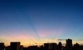 虹色の夕焼け