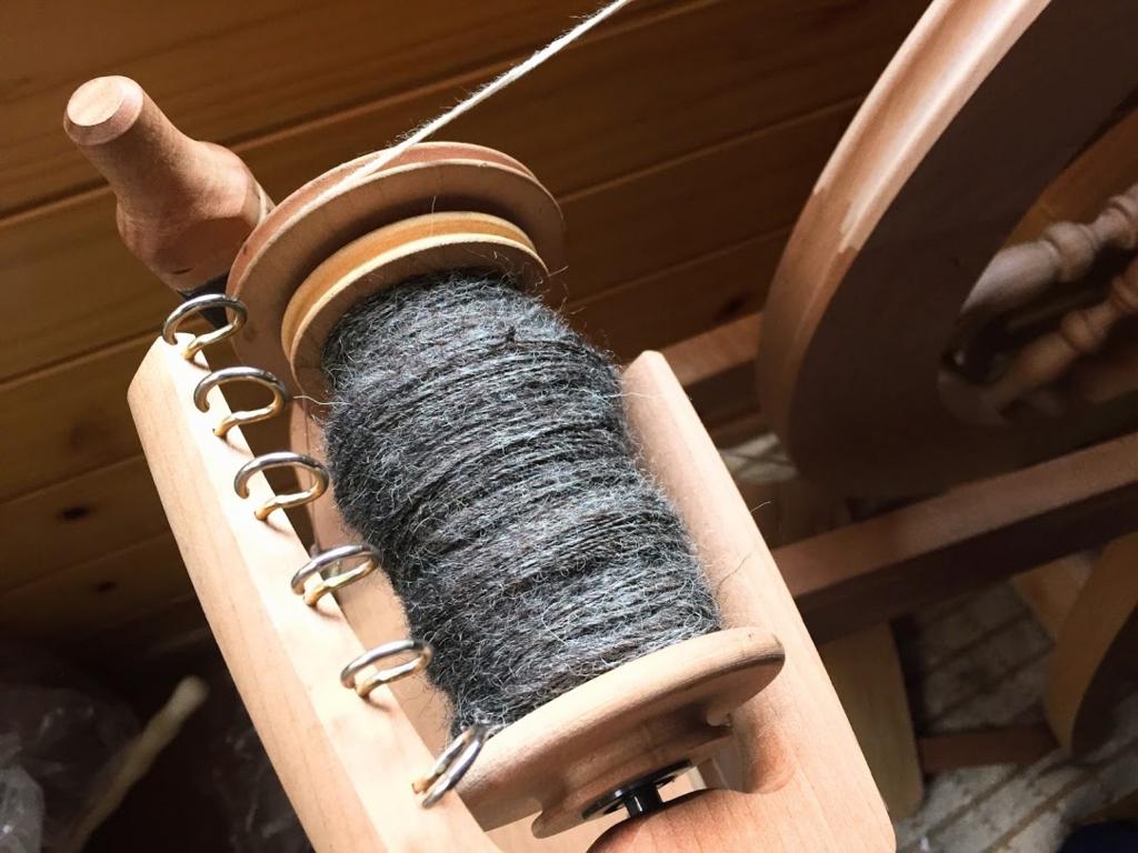 今日紡いだ毛糸