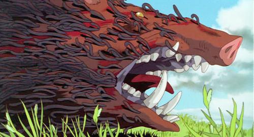 もののけ姫に登場するタタリ神の画像