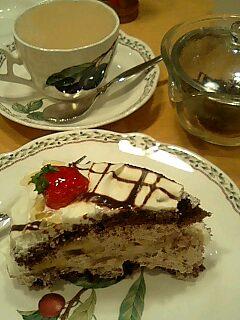 カフェブリチェのチョコバナショート ○