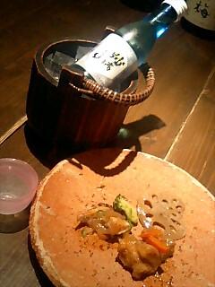 つきだしと妙高山 (日本酒)@ウシノホネ ズット ○
