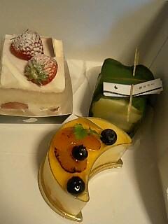 ジュヴァンセルのケーキ ○