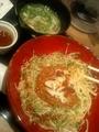 豚挽き肉とスプラウトの辛味噌和え麺byMIST