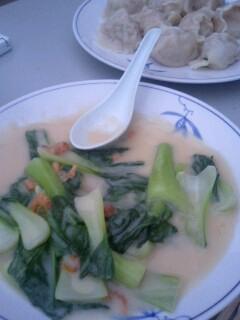 青梗菜のクリーム煮@四条大橋 東華菜館