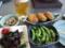 サラダ、焼おにぎり、枝豆@琵琶湖ホテル バーベキュー