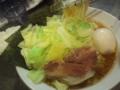 味卵ラーメン+キャベツ@千林大宮 そらの星