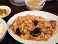 豚肉と卵とキクラゲの炒め物@心斎橋 紅虎軒