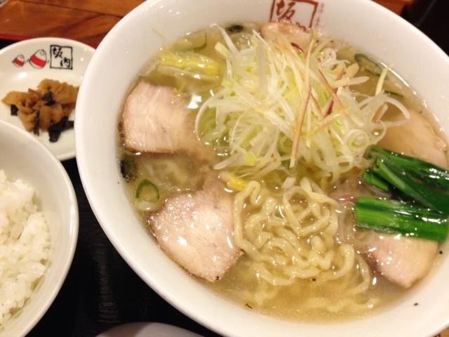 青唐うま塩ラーメン@京都拉麺小路 坂内食堂 ○