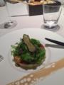 ミックスハーブと彩り野菜 葡萄の濃縮シロップ SABA のアクセント@ラ
