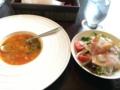 朝食のサラダとスープ@本町 south paradise cafe ○