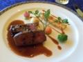 国産牛背肉のロティ 黒トリュフソース