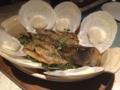 本日のお魚(グラミー)@フォーシーズンズ サヤン リバーサイドカフェ