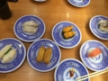 太刀魚、エンガワ、マグロなど@くら寿司