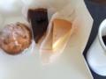 チョコタルト、チーズスフレ@円町 chocolat