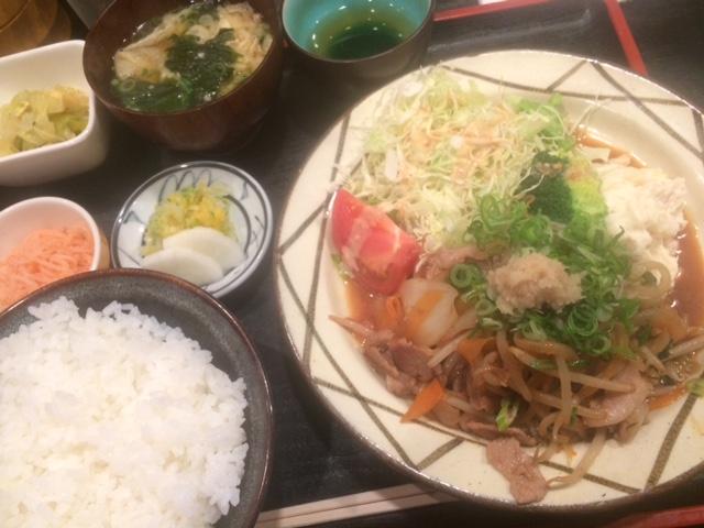 豚肉の生姜焼き@東心斎橋 北富士