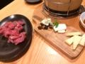 並みのラム肉とチーズ@三条ひつじ食堂