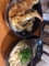 海老天丼、冷やしかけうどん@長堀橋 うどん無双