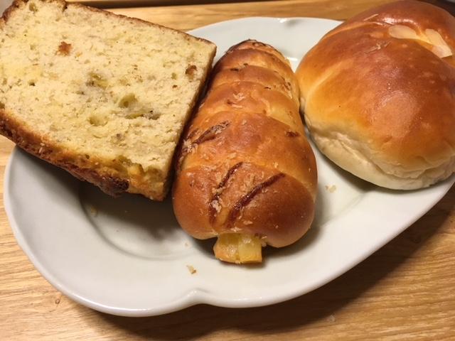 バナナブレッド、クリームパン@阪神百貨店 ルビアン