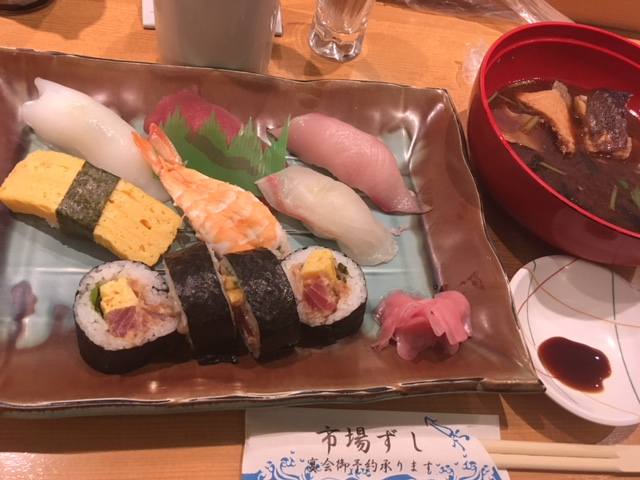 にぎり定食@心斎橋 市場ずし
