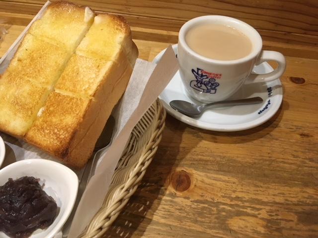 ミルクコーヒーとモーニング@コメダ珈琲店