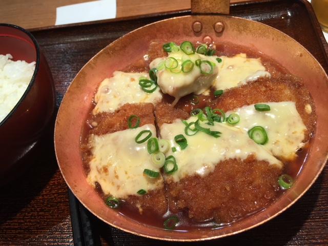 チーズヒレカツ丼ダブル@祭太鼓 阪急三番街店