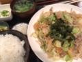 豚野菜炒め@心斎橋 北富士