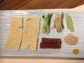 刺身湯葉と彩り野菜@梅の花