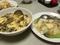 茸と卵のスープ、貝柱と白菜の炒め物@浜大津 あたか飯店