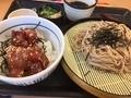 鉄火丼とざる蕎麦@なか卯