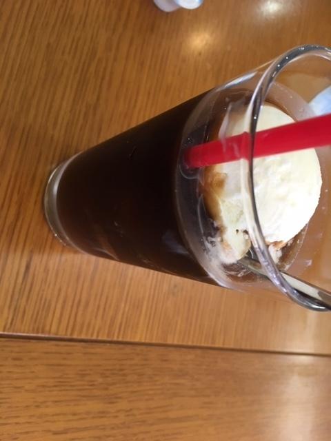コーヒーフロート@大津聖苑 喫茶店
