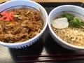 牛丼と蕎麦@なか卯