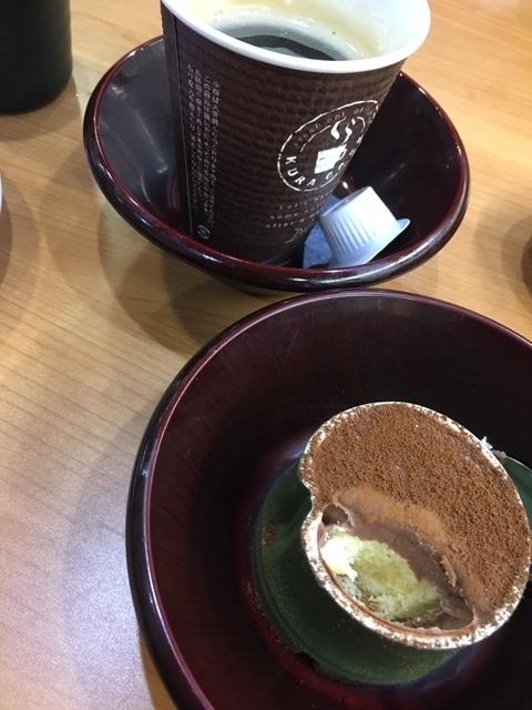チョコプリン、ホットコーヒー@くら寿司