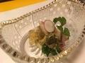 蟹と酢のジュレ@ 三井寺 肴や ま喜の