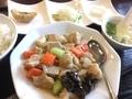鶏肉の黒胡椒炒め物@島之内 逸香園