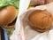 野菜バーガー、チーズバーガー@ロッテリア