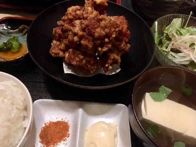 唐揚げ定食@長堀橋 火澄屋
