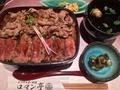錦重@大阪駅 エキマルシェ ビフテキ重・肉飯 ロマン亭