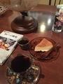 チーズケーキ、コーヒー(ケニア)@大津 天衣無縫