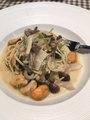 ムール貝とキノコと三つ葉の生姜クリームパスタ@膳所駅前 トラスパレ