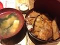 豚丼(ミックス)@心斎橋 1/8ピース