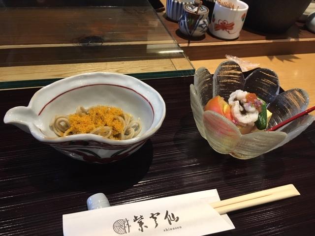 からすみ蕎麦、鱧@ 京都市役所前 紫雲仙