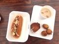 ホットドッグ、ドーナツ、チャイ@瓜生山祭(京都造形芸術大学)