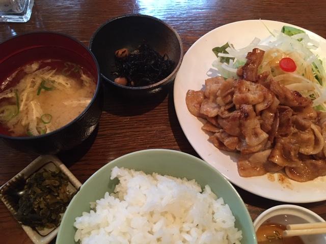 豚肉の生姜焼き@東心斎橋 カナール