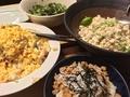 豆腐としらすと枝豆の和え物、ポテトサラダ他@成田屋の食卓より